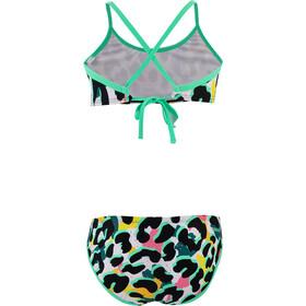speedo JungleSpeak Allover Tie 2-delige Bikini Meisjes, junglespeak black/white